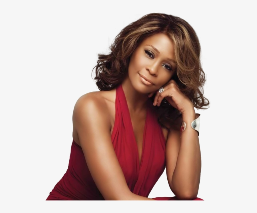 Whitney Houston Red Dress - Whitney Houston By I Look To You, transparent png #2006923