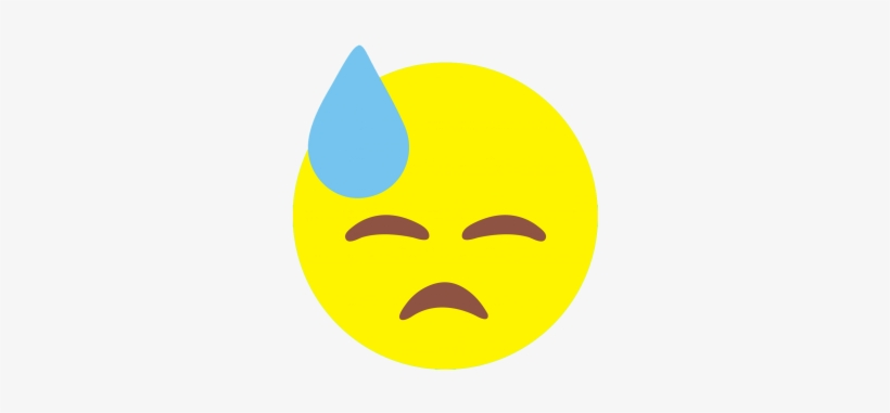 Face With Cold Sweat Emoji Design With Flock Circle Free