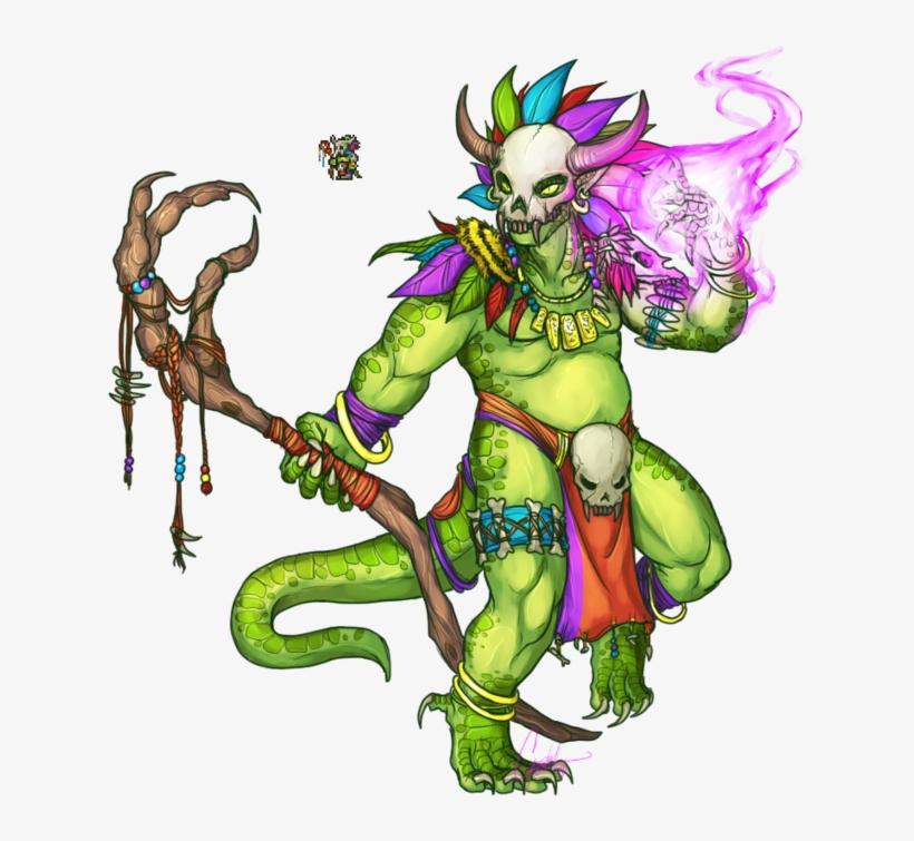 Terraria Minecraft Fictional Character Mythical Creature - Terraria Lihzahrd, transparent png #2011627