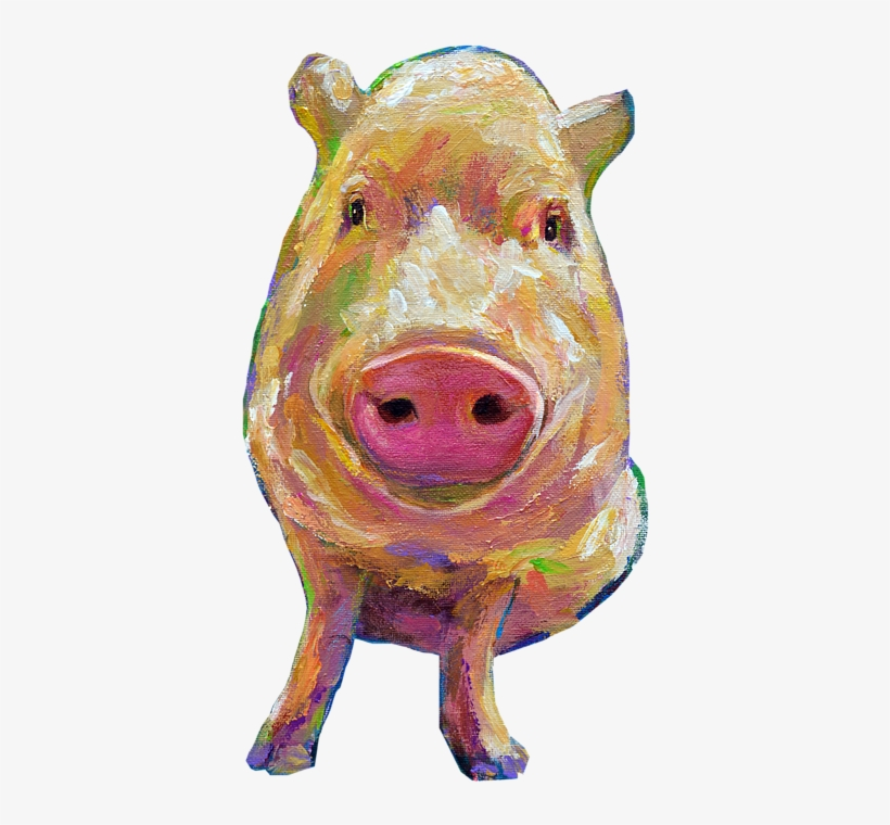 Click And Drag To Re-position The Image, If Desired - Colorful Pig Painting, transparent png #2012074