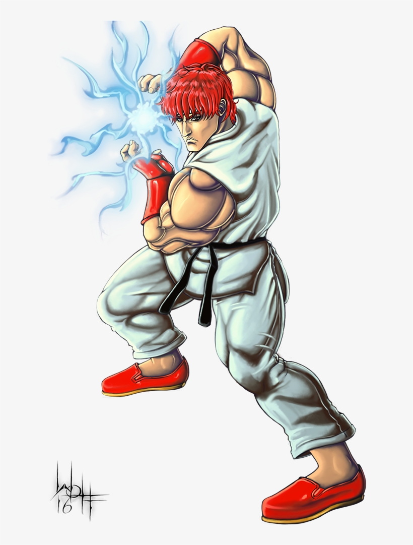 Png Ryu Drawing Hadouken - Ryu Street Fighter 1987, transparent png #2015022