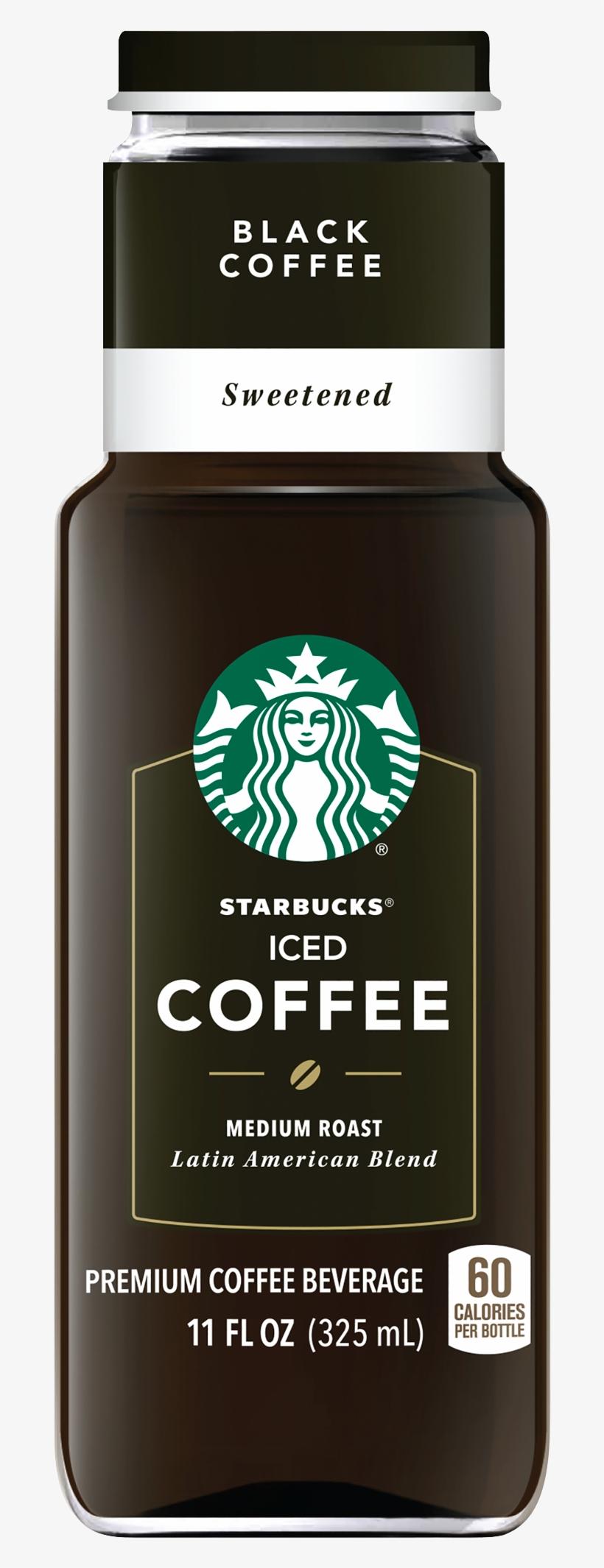Starbucks Iced Coffee Black Sweetened - Starbucks Black Iced Coffee, transparent png #2018542