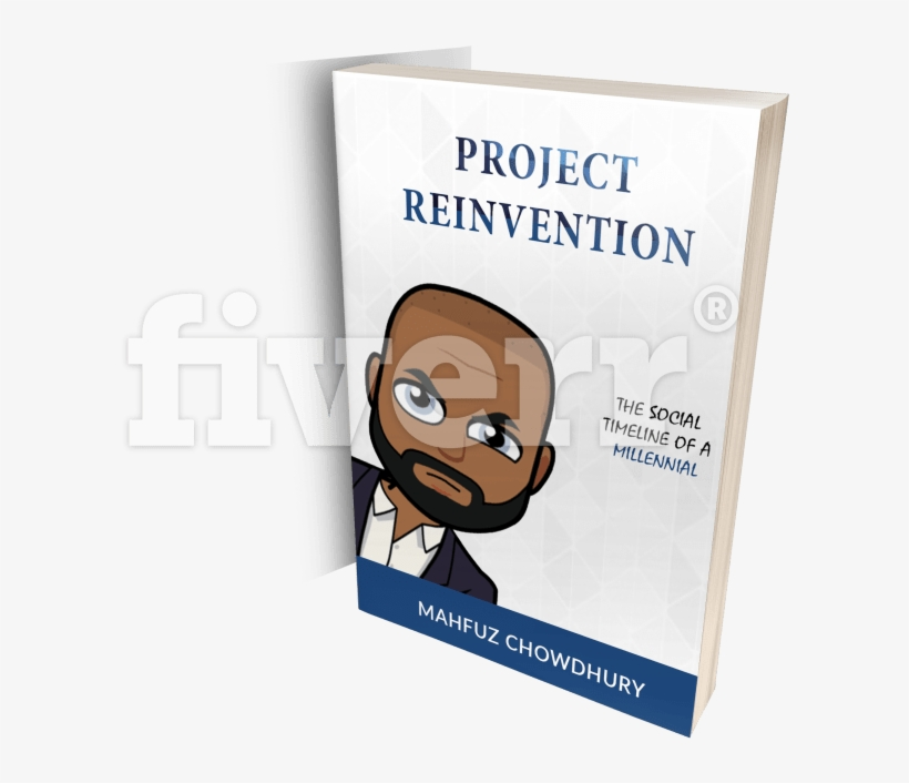 Design A Book Cover With Back And Spine Unlimited Revision - Project Reinvention: The Social Timeline Of A Millennial, transparent png #2019450