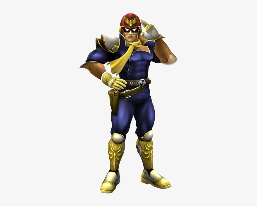 Captain Falcon Smash 4 Png - Super Smash Bros Brawl Captain Falcon, transparent png #2021318