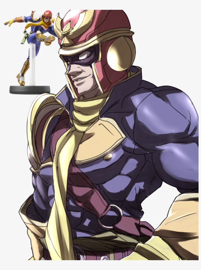 Super Smash Bros - Captain Falcon Amiibo (super Smash Bros Series), transparent png #2021399