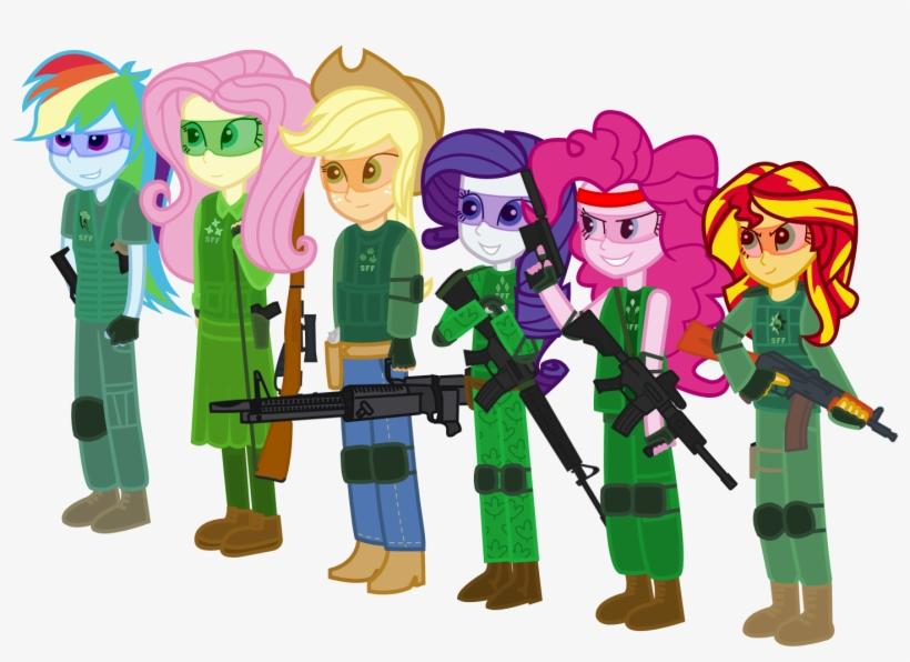 Airsoft, Aks-74u, Applejack, Artist - Sunset Shimmer Mlp Equestria Girls Mane 7 Gun, transparent png #2022718