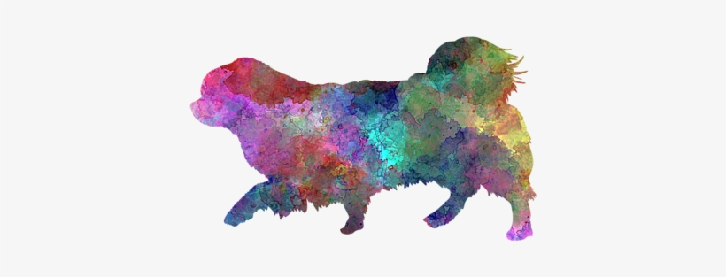 Click And Drag To Re-position The Image, If Desired - Tibetan Spaniel Im Watercolor Rundes Keramik Ornament, transparent png #2023411