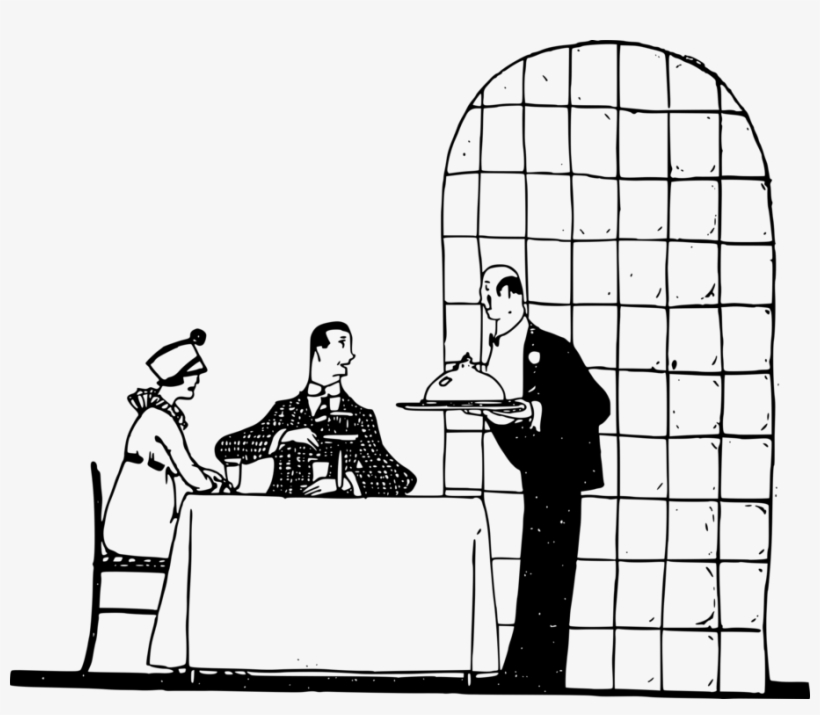 Restaurant Drawing Cafe Todd Chavez Waiter Free Commercial El