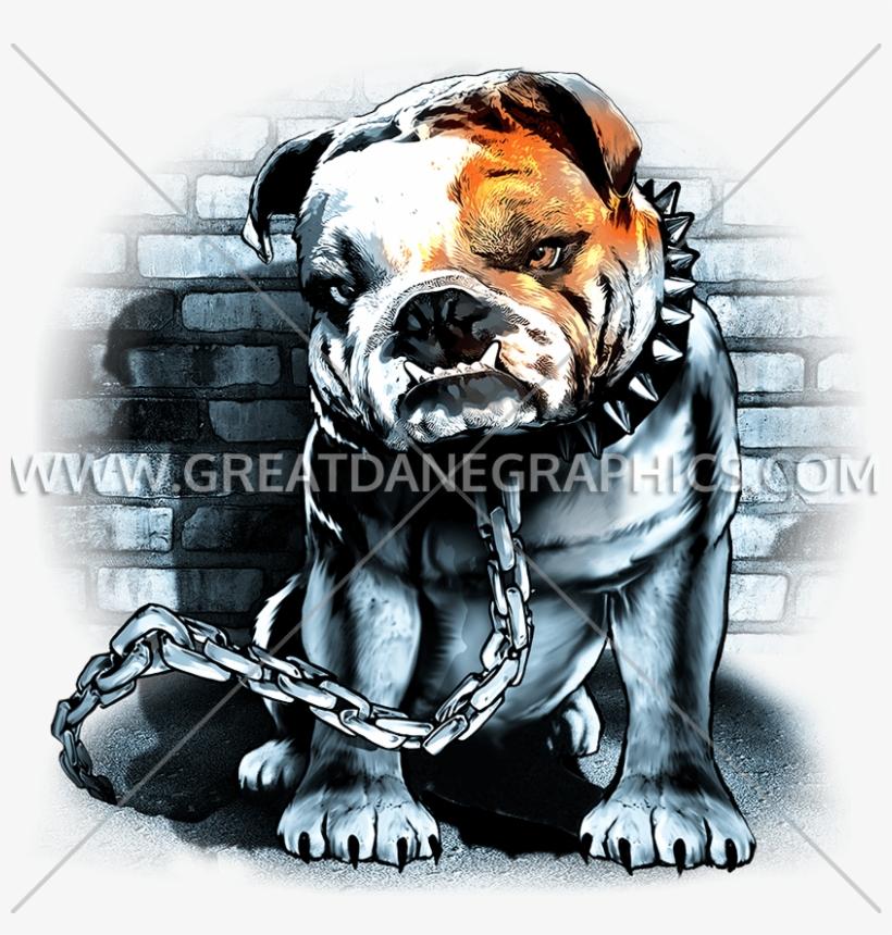 Yard Dog Mens Printed T-shirt Bull Dog Chain Animal, transparent png #2025361