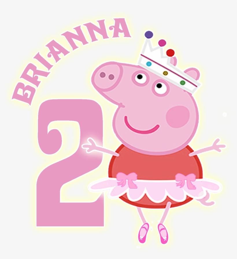 Logo Creado Para Usar En Todo El Candy Bar De La Fiesta - Peppa Pig Ballet Png, transparent png #2026752