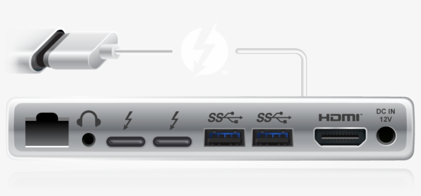 Now, One Compact Port Provides Thunderbolt™3 Data Transfer, - Thunderbolt 3 Support, transparent png #2028869