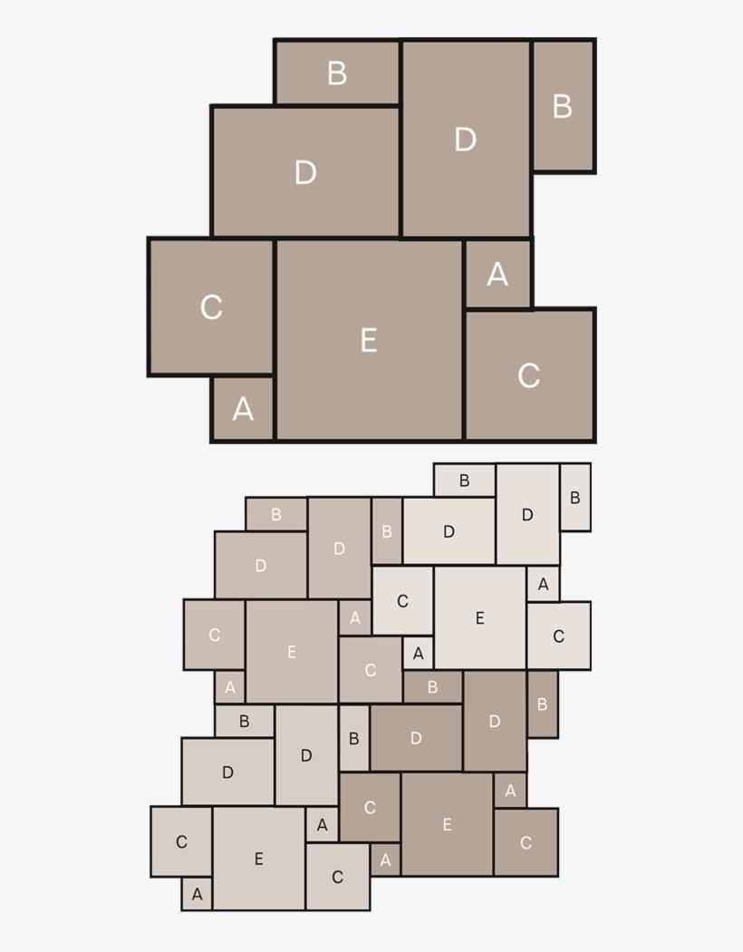 Stone Tile Laying Pattern - 5 Slab Laying Pattern, transparent png #2032000