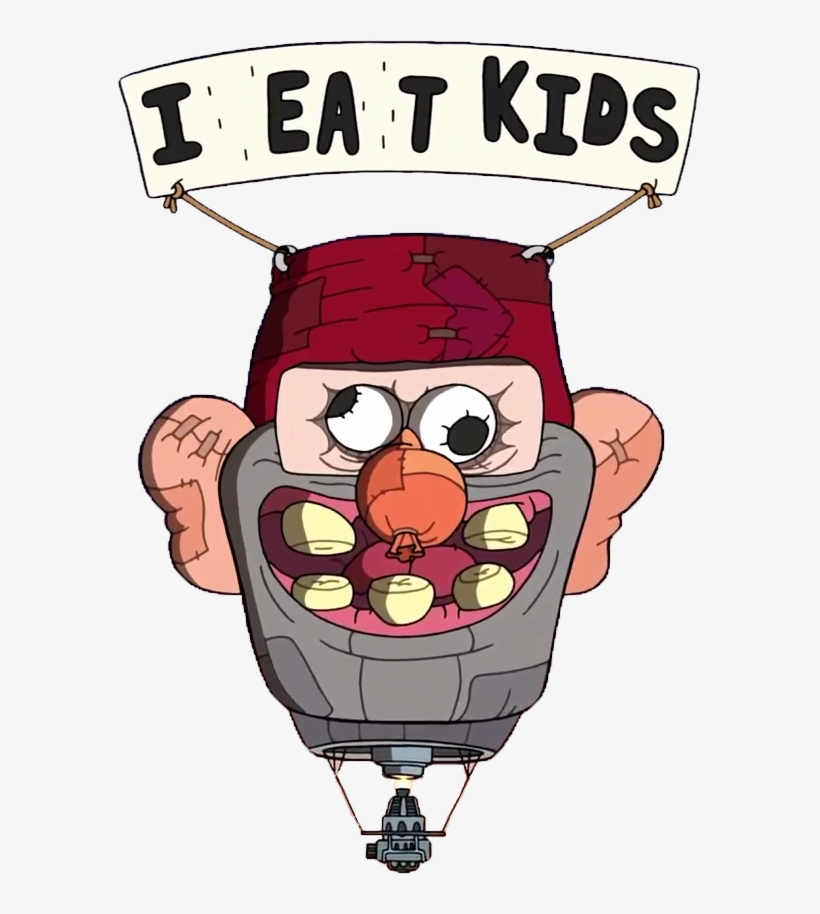 A Transparent Balloon If You Want To Put It Into Your - Gravity Falls I Eat Kids, transparent png #2032364