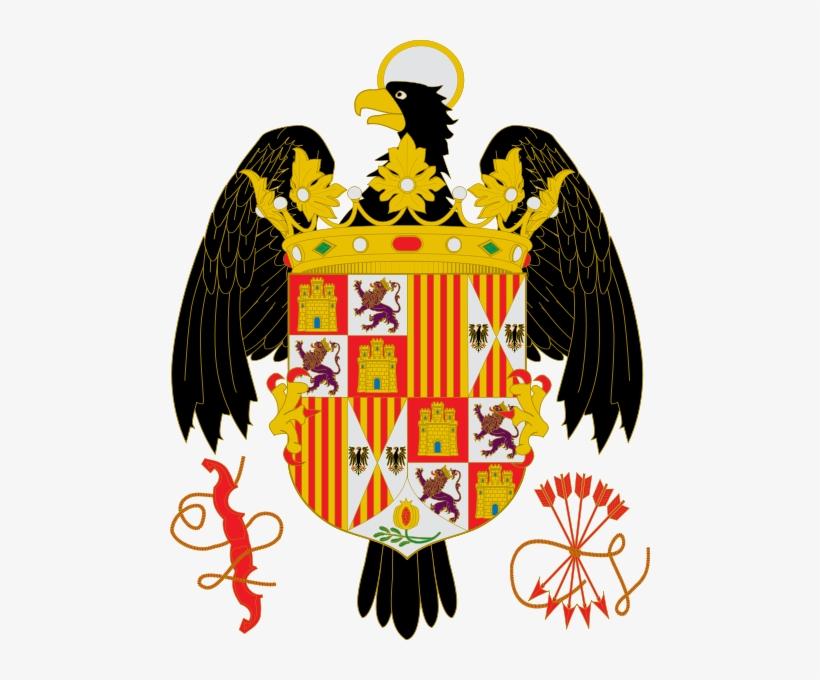 Escudo De Los Reyes Católicos Con El Yugo Y Las Flechas - Bandera De Los Reyes Catolicos, transparent png #2034118