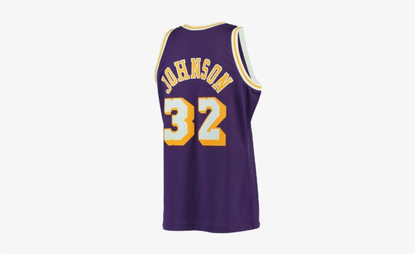 Los Angeles Lakers Magic Johnson Purple Swingman Jersey - Purple Magic Johnson Jersey, transparent png #2041958