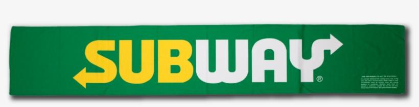 Subway Custom Half Size Cooling Towel - High Resolution Subway Logo, transparent png #2045482