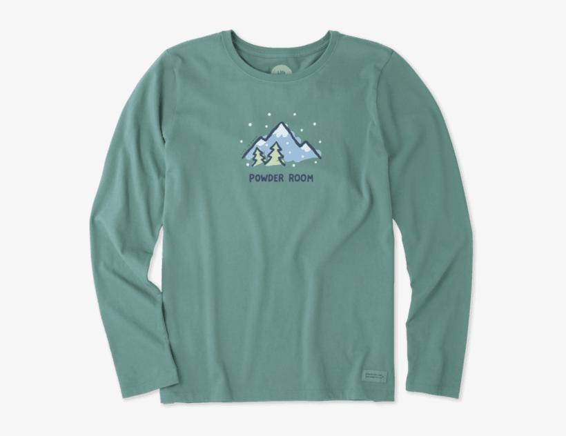 Women's Powder Room Long Sleeve Crusher - T-shirt, transparent png #2047250