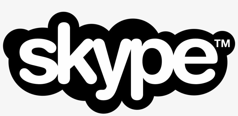 Skype Logo Black And White Skype Logo Free Transparent Png