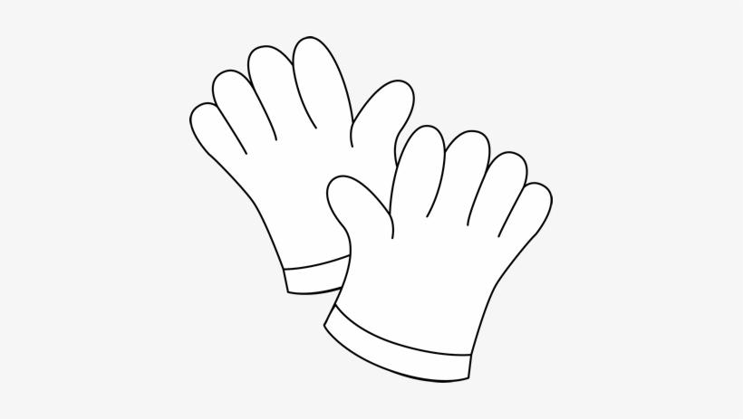 Black And White Gardening Gloves Clip Art Garden Gloves