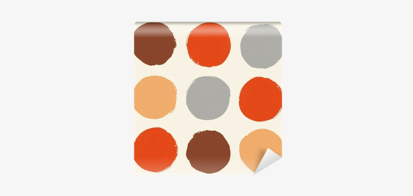 Color Pattern With Grunge Circles Wall Mural • Pixers® - Watercolor Painting, transparent png #2049944
