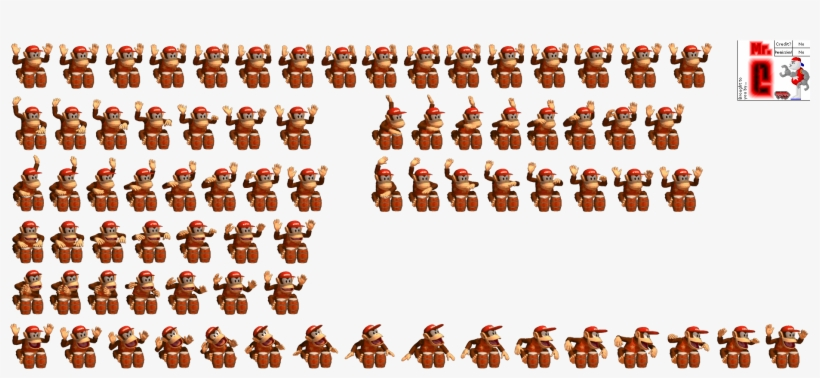 Click For Full Sized Image Diddy Kong Diddy Kong Sprite Sheet