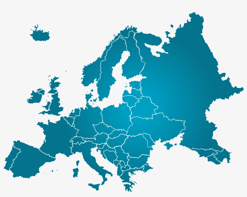 Europe Map - Europe Map Vector, transparent png #2054353