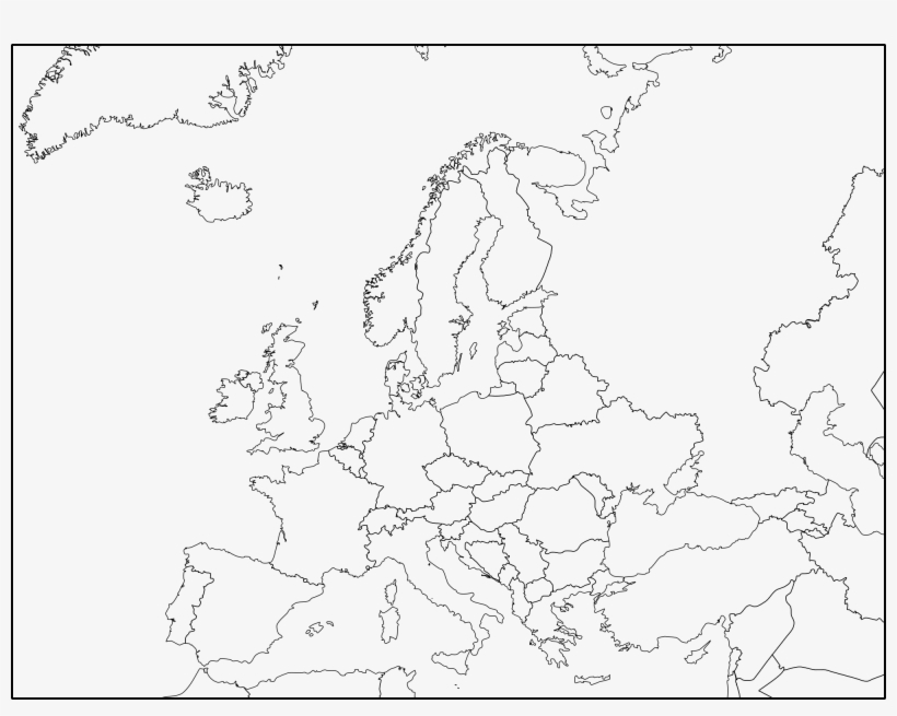 Blank Map Of Europe Png - Europe Blank Map, transparent png #2054524