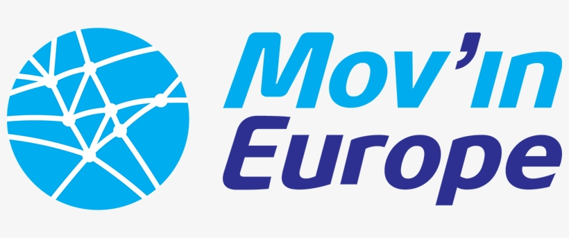 Mov'in Europe Is An Esn Initiative To Promote Mobility - Movin Europe Logo Png, transparent png #2055049