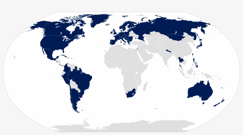 Gay Military - Map Of The First World Countries, transparent png #2056704