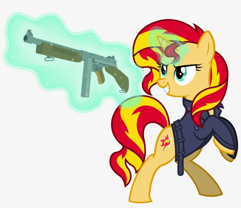 Outlawedtofu, Clothes, Fallout, Fallout Equestria, - Mlp Fim Sunset Shimmer Vector, transparent png #2057798