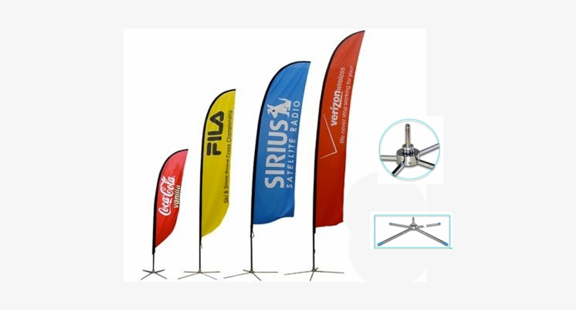 Bandera - 16ft Feather Custom Flag Banners Spike Base Single, transparent png #2058897