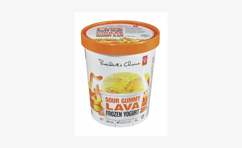 Pc Sour Gummy Lava Frozen Yogurt - President's Choice Frozen Yogurt, transparent png #2060548
