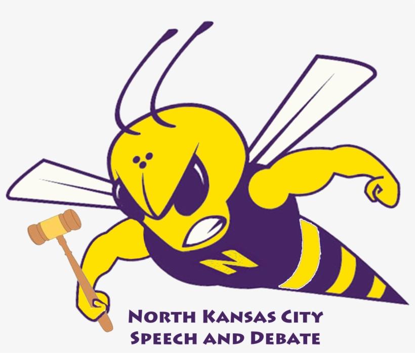 Speech And Debate Hornet Colored - North Kansas City High School Logo, transparent png #2060850