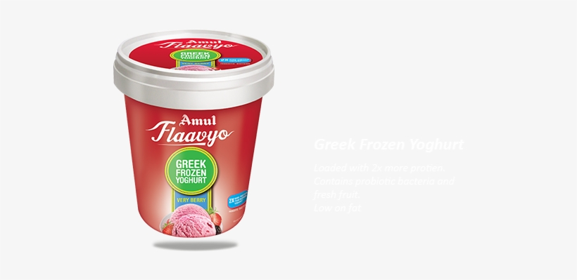 Greek Frozen Yogurt - Amul Frozen Yogurt, transparent png #2060940