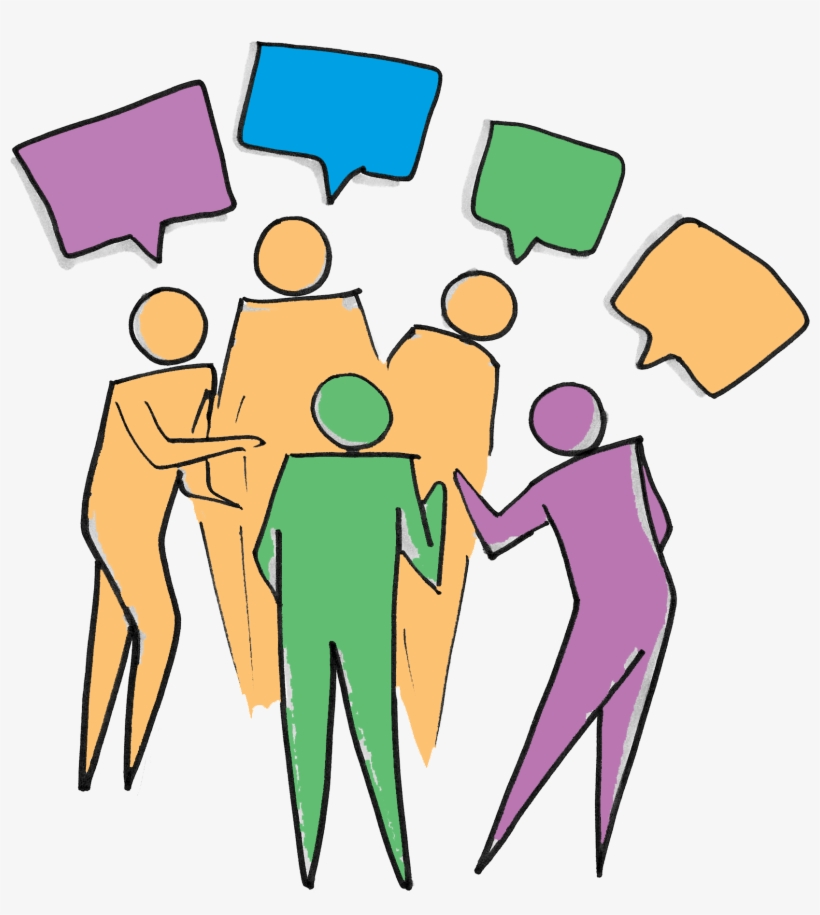 Diversity Clipart Group Debate - Group Of People Talking Clipart, transparent png #2061109