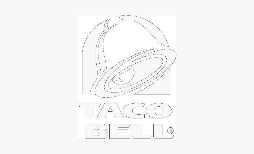 Taco Bell - Taco Bell Logo Black And White, transparent png #2061217