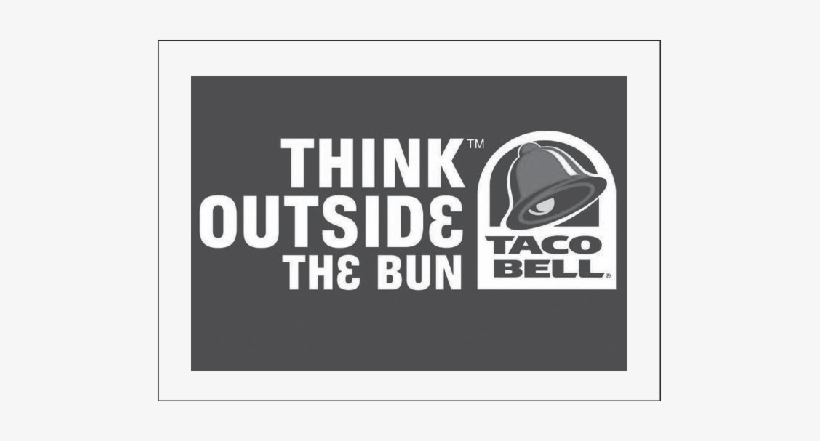 Taco Bell's Use Of Slogan As A Brand Signature - Think Outside The Bun Taco Bell Logo, transparent png #2061332