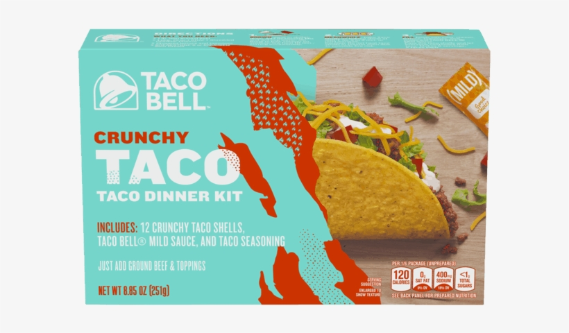 Taco Bell Crunchy Taco Dinner Kit, transparent png #2061802