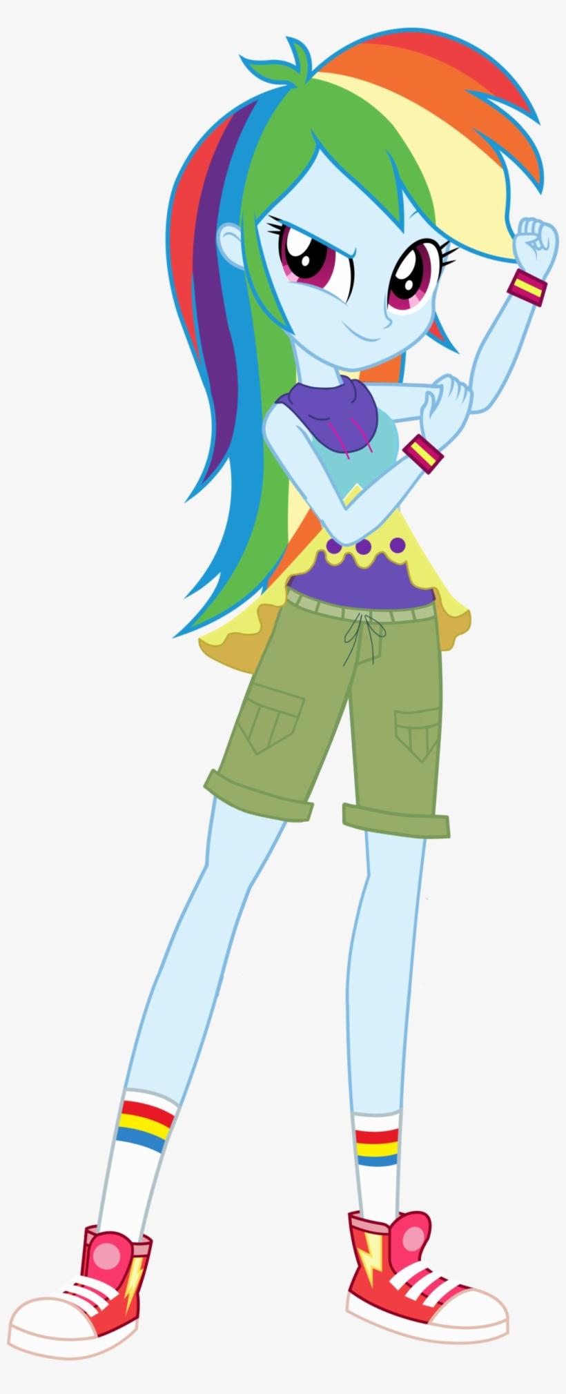 Uploaded - Mlp Eg Rainbow Dash Legend Of Everfree, transparent png #2063905