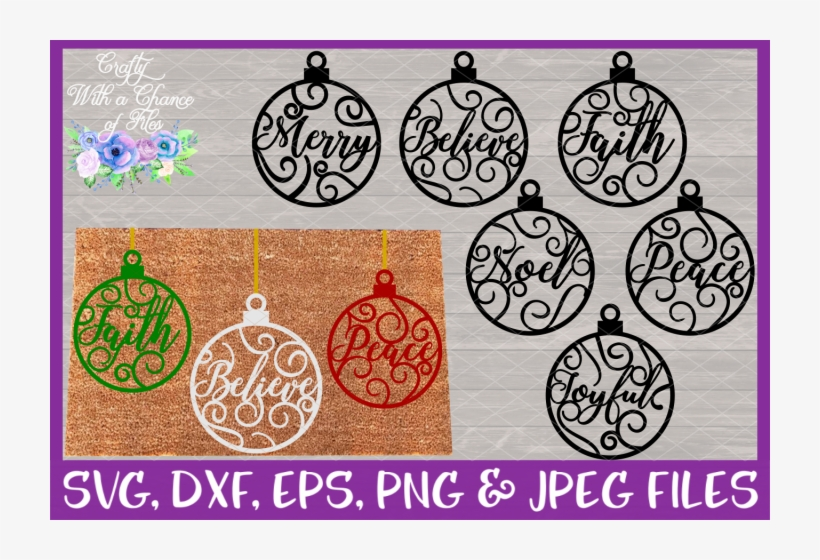 Christmas Word Ornaments Svg Christmas Flourish Baubles Christmas Day Free Transparent Png Download Pngkey
