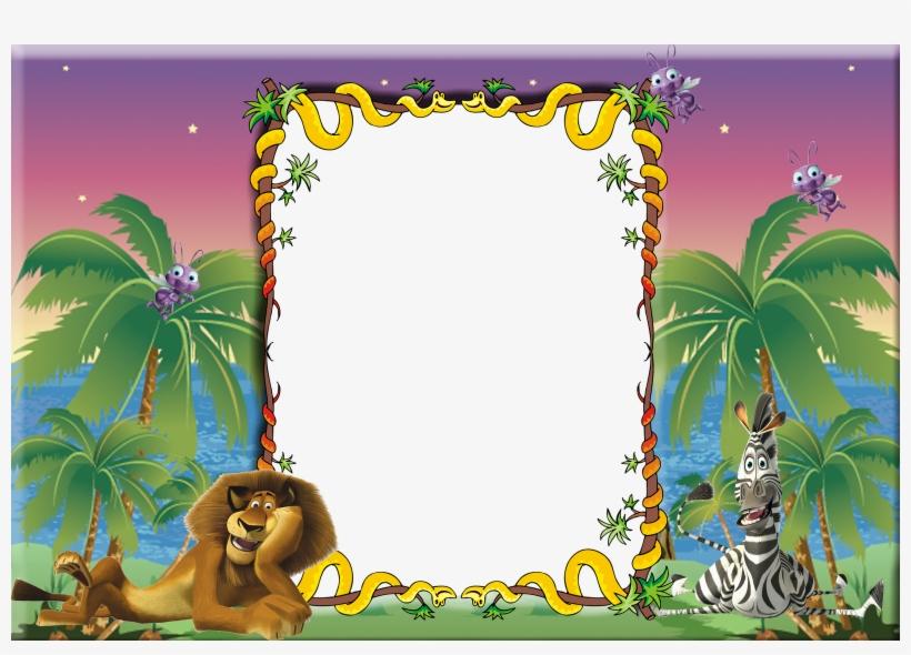 Moldura Para Fotos Infantil Madagascar - Nintendo Game Boy Advance Madagascar, transparent png #2068287