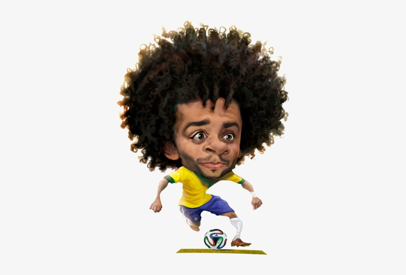 Real Madrid By Lourdes - Brazil Football Player Cartoon, transparent png #2069293