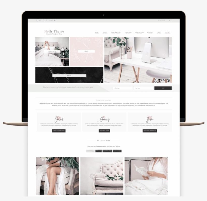 Holly Portfolio And Ecommerce Genesis Child Theme - E-commerce, transparent png #2072215