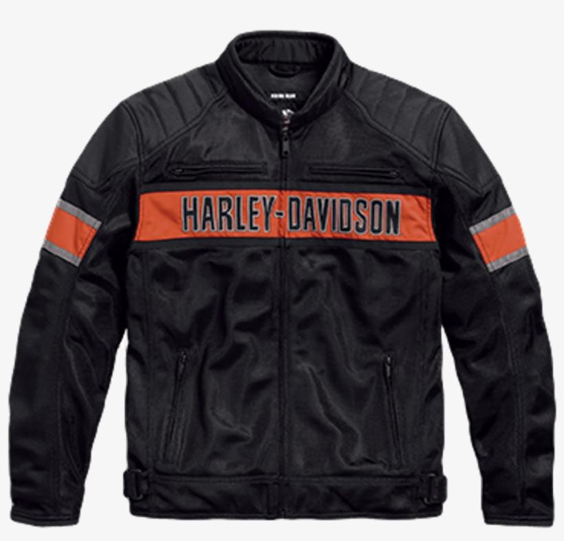 Harley Davidson Trenton Mesh Riding Jacket 98111 17vm - Orange Harley Jacket Mesh, transparent png #2073090