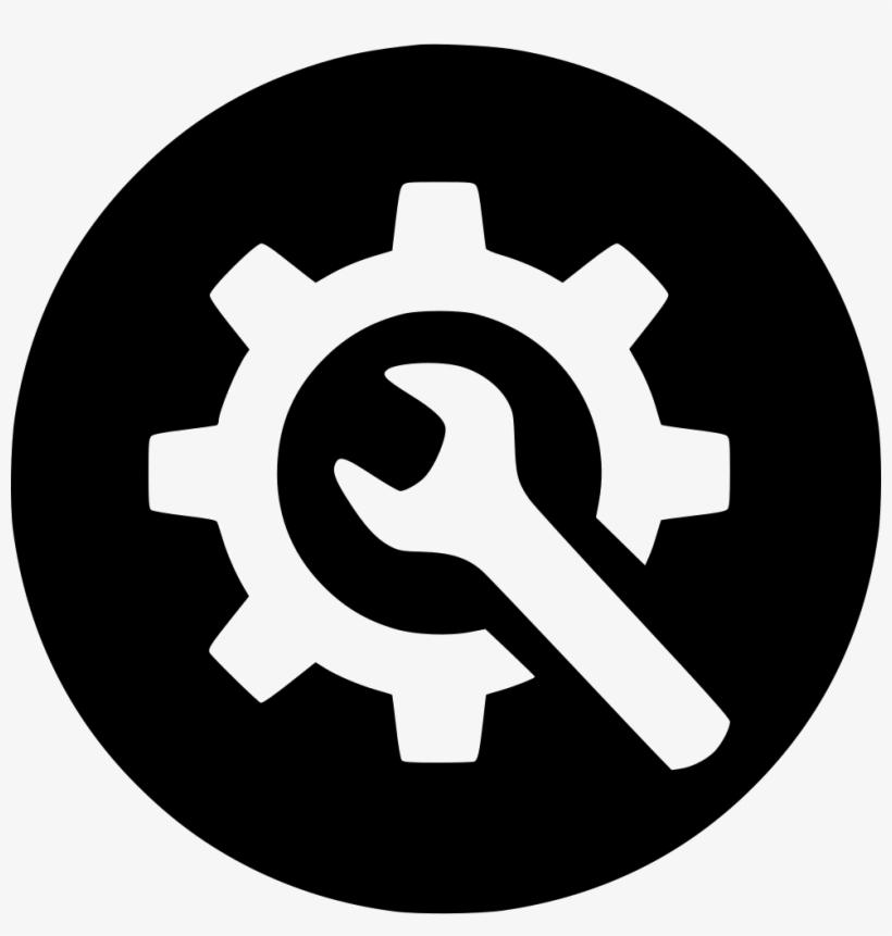 Configuration Gear Preferences Repair Svg Png Comments - Instagram Logo Black Vector, transparent png #2074519