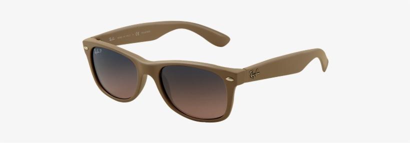 e149c50b6b048e Ray Ban Rb2132 New Wayfarer Matte Beige Polarised Sunglasses - Ray Ban  Wayfarer Blue
