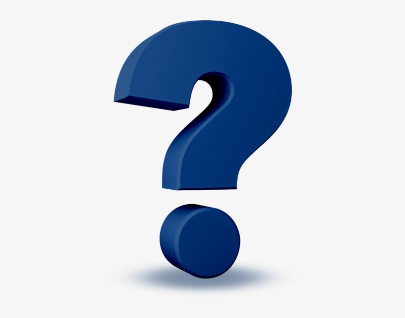 3d Blue Questionmark Featuredcontent - Question Mark Icon 3d Png, transparent png #2078250