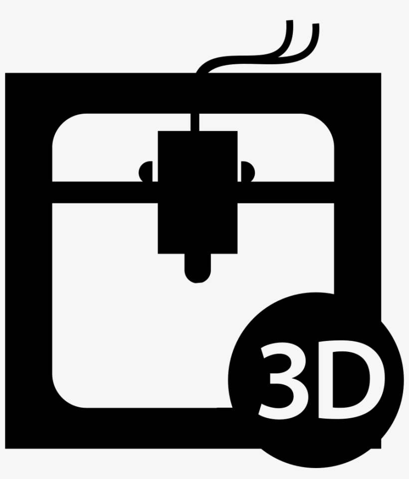 3d Printer Interface Symbol Of The Tool Comments - 3d Printer Icon Png, transparent png #2078291