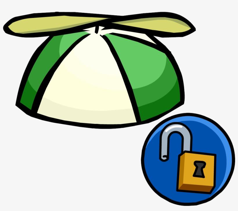 259354b803252 Green Propellor Cap Unlockable Icon - Club Penguin Hats - Free ...