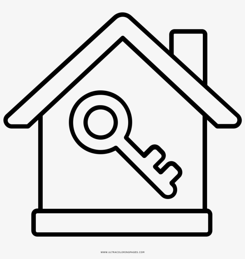 House Key Coloring Page Dibujo De Bienes Free Transparent Png
